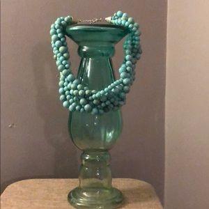 Tiffany Blue Beaded Necklace